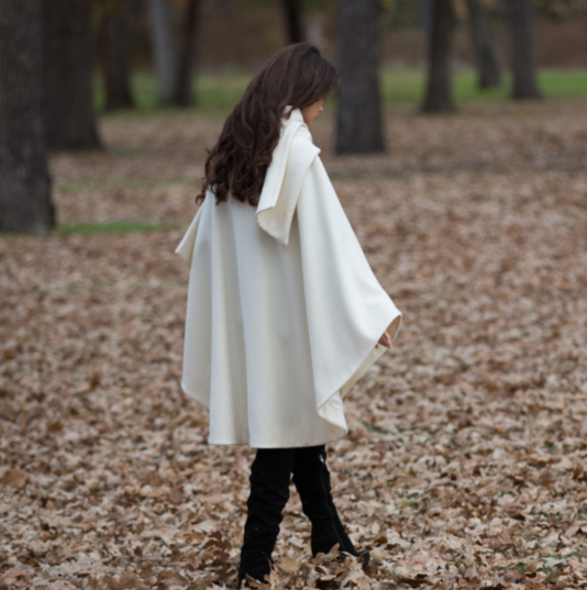 Winter white cape back view