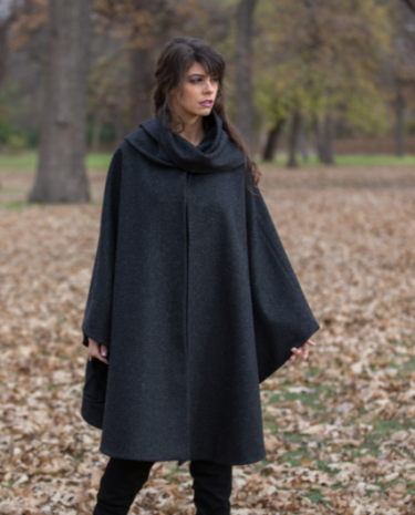 Heather Wool Cape